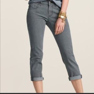 Cabi Johnny Striped Cropped Jeans size 8